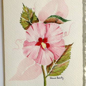 Watercolor Painted Blank Greeting Card