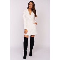 Timeless Beauty Collared Jacket (Porcelain)