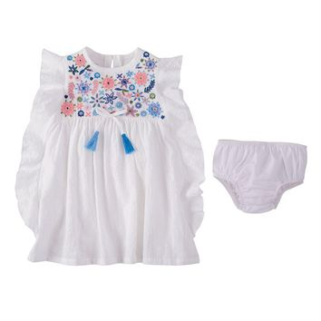 MUD PIE FLORAL EMBROIDERY DRESS