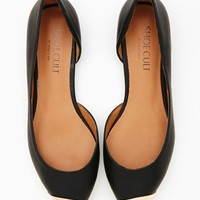 Shoe Cult Hot Metal Flat - Black