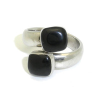 Inlaid Onyx Ring