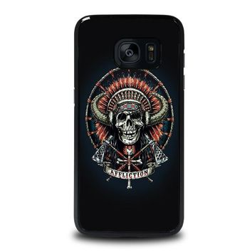 affliction indian skull samsung galaxy s7 edge case cover  number 1