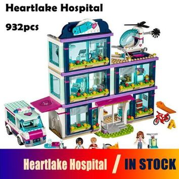 CX 01039 932Pcs Model building kits Compatible with Lego girls friends 41318 Heart Lake Love Hospital 3D Bricks figure toys