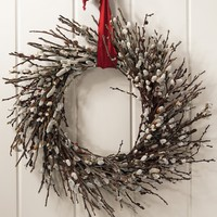 Organic Pussy Willow Wreath