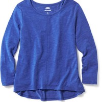 Old Navy Girls Slub Knit Scoop Neck Tee