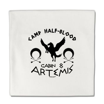 "Camp Half Blood Cabin 8 Artemis Micro Fleece 14""x14"" Pillow Sham by TooLoud"