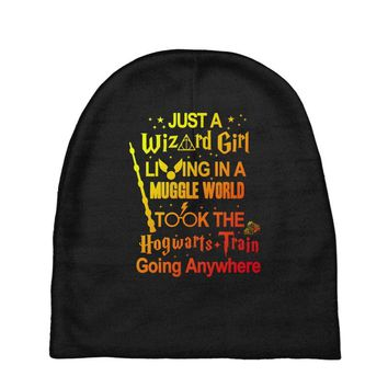 Just A Wizard Girl Living In A Muggle World Baby Beanies
