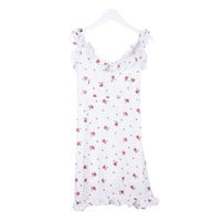 Chiffon Flower Strap One-piece Dress