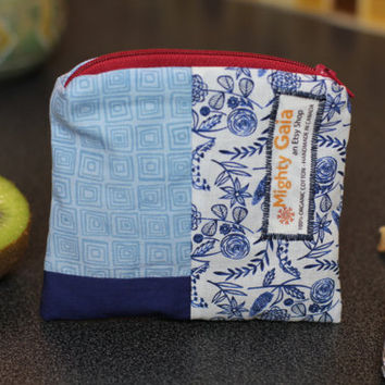 Mini Organic snack bag | Organic reusable bag | Organic fabric | Snack bag with zipper | make up bag | makeup pouch
