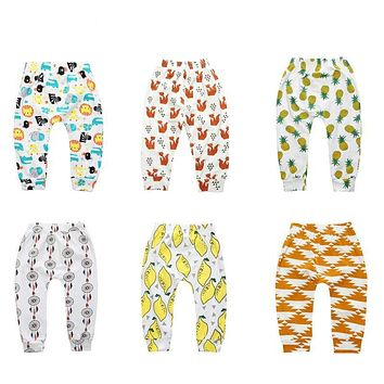 Children pants for little boys girls animal print loose Casual Leggings wide trousers clothes