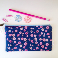 Ditsy Floral Divided Pencil Case (exclusive design)