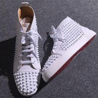 DCCK Cl Christian Louboutin Louis Spikes Style #1889 Sneakers Fashion Shoes