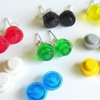 Lego Earring Studs Upcycled Recycled