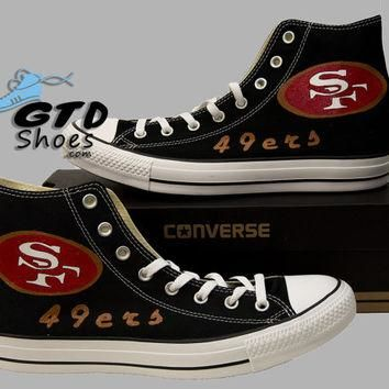 Hand Painted Converse. San Francisco, 49ers, 49 ers, Football, Sports. Handpainted sho