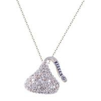 Walmart: Hershey's Kiss Crystal Accent Silver-Tone Kiss Pendant, 18""