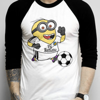 Minion Soccer on a Baseball Tee