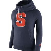 Nike Women's Syracuse Orange Blue Rewind Rally Funnel Hoodie