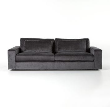 ORLEANS SOFT-CHARCOAL GREY SOFA 98""