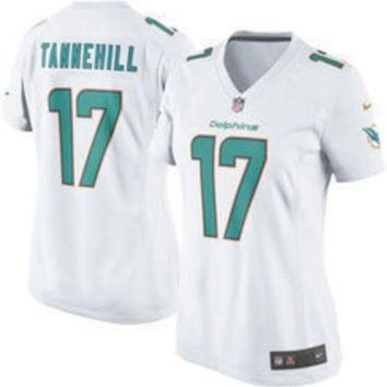ESBYD9 NFL Miami Dolphins Womens Ryan Tannehill Nike White Game Jersey