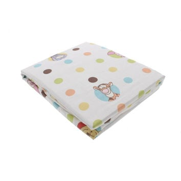 Disney Baby Winnie The Pooh Tidy Time Printed Crib Fitted Sheet