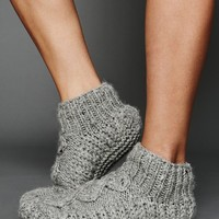 Free People Chunky Cable Slipper Sock