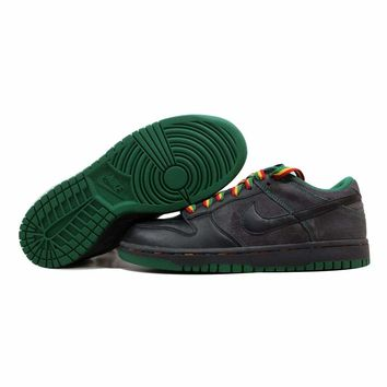 Nike Dunk Low CL Black/Black-Anthracite-Pine Green Rasta Jamaica 304714-909