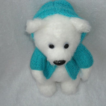 Crochet polar bear, amigurumi bear, crochet teddy bear, stuffed animals, Soft toys, Holiday gift kids, Unusual handmade.