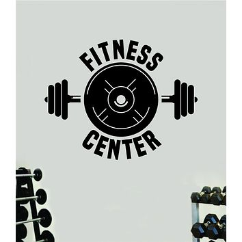Fitness Center V8 Gym Wall Decal Home Decor Bedroom Room Vinyl Sticker Art Teen Work Out Quote Beast Lift Strong Inspirational Motivational Health School