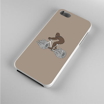 Chewbacca Biking Star Wars Ilustration Iphone 5s Case