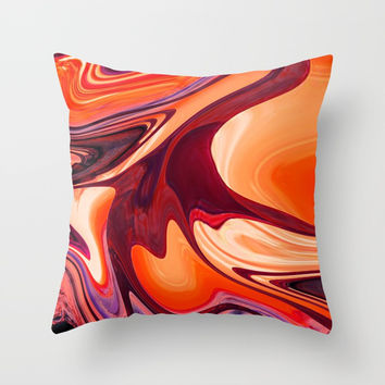 Abstract Fluid 1 Throw Pillow by Arrowhead Art