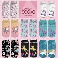 Emojis Unicorn Girl Socks