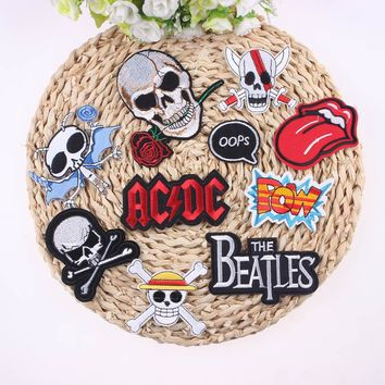 1Pcs Mixture Sell Punk Rock Cool Patch Badge For Clothing Embroidered