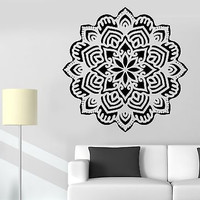 Wall Sticker Mandala Buddha Buddhism Meditation Vinyl Decal (z2922)