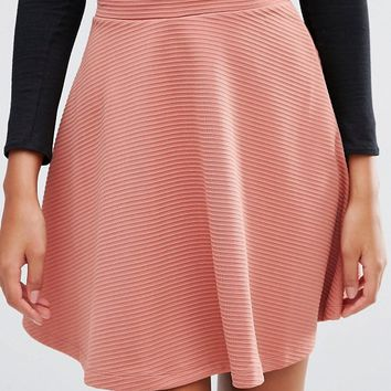 ASOS TALL Skater Skirt In Texture at asos.com