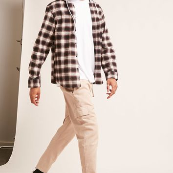 Plaid Flannel Combo Hoodie