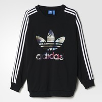 adidas TREFOIL SWEATER - Black | adidas US