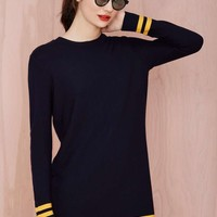 Good Game Waffle Knit Dress