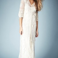 Kate Moss for Topshop Crochet Lace Maxi Dress (Online Only)