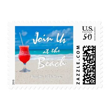 Elegant Ocean Beach Summer Save the Date Postage