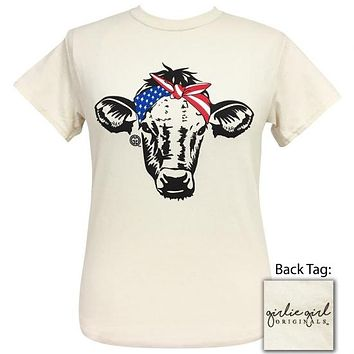 Girlie Girl Originals Preppy American Bandana Cow T-Shirt