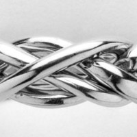 Ladies 4 Band Sterling Silver Puzzle Ring