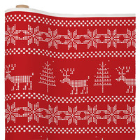 Natt Christmas Knitting Deer Fabric By The Yard