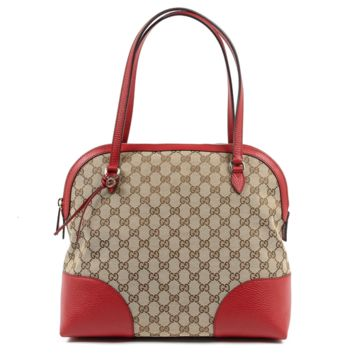 Gucci Womens Handbag GG Guccissima Red 449243 8606