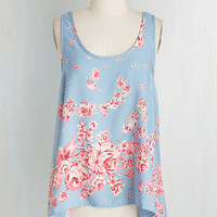 Mid-length Sleeveless Roses in Repose Top