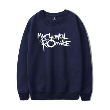 New Arrival Print Full Sleeve O-neck My Chemical Romance Sweatshirts Cool And Fashion Casual Fleece Hoodie With Capless
