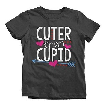 Shirts By Sarah Youth Cuter Than Cupid Kids Funny Valentine's Day T-Shirt Boy's Girl's