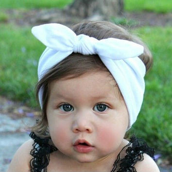 Baby Kids Girls Cotton Headband Knot Tie Headband Headwrap Hair Band Vintage Head Wrap Bandana Hair Accessories