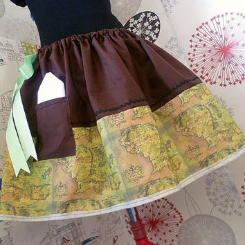 Hobbit, Lord Of The Rings, Hobbit Girl, MIddle Earth Clothes, Geek Skirt, Tolkien, Hobbit Skirt, ROOBYS