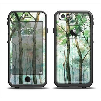 The Watercolor Glowing Sky Forrest Skin Set for the Apple iPhone 6 LifeProof Fre Case