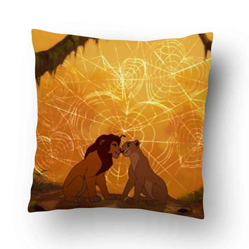 Simba and Nala The lion king Pillow Cover